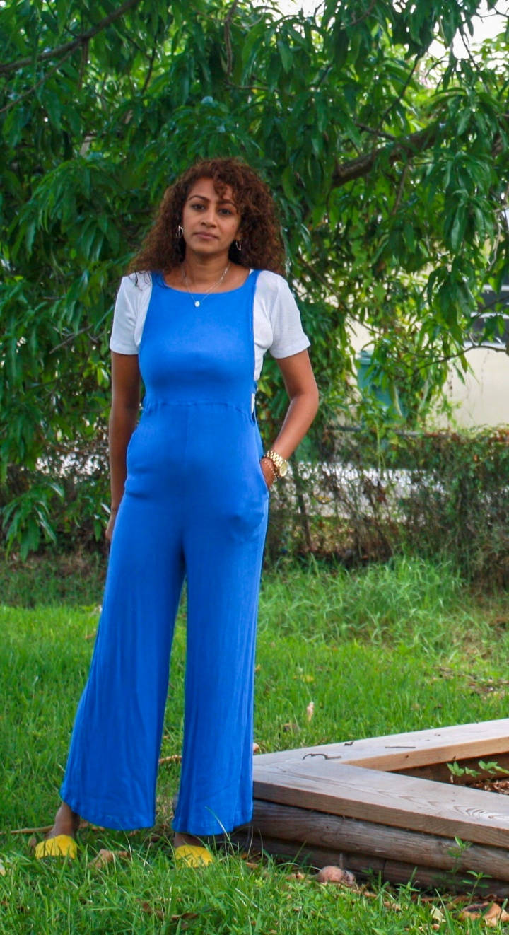 My Favorite Jaase blue jumpsuit for Summer + Poshmark App for Deals